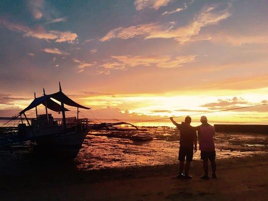 David and Raymond Arana in the Philippines.