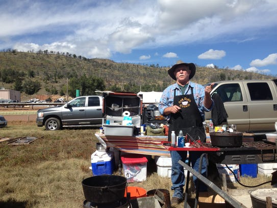 Renowned Dutch Oven camp cook Cee Dub demonstrates