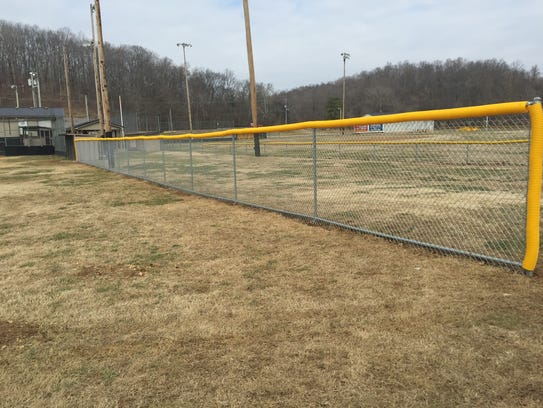A needed upgrade at AASC ball fields was a fencing
