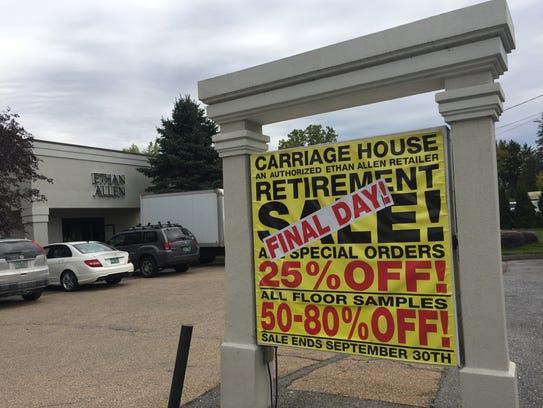 The retirement sale for Michael Lash at the Ethan Allen