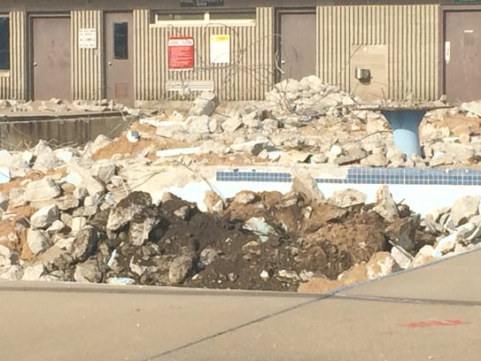 Demolition at Mead Pool in Wisconsin Rapids