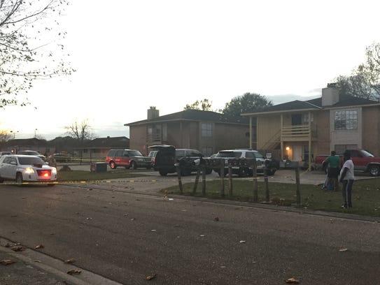 Lafayette Parish Sheriff's deputies investigate the
