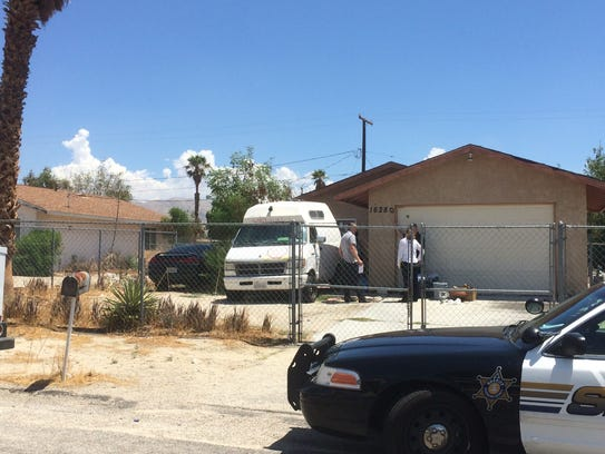 Sheriff's deputies investigate a homicide after finding