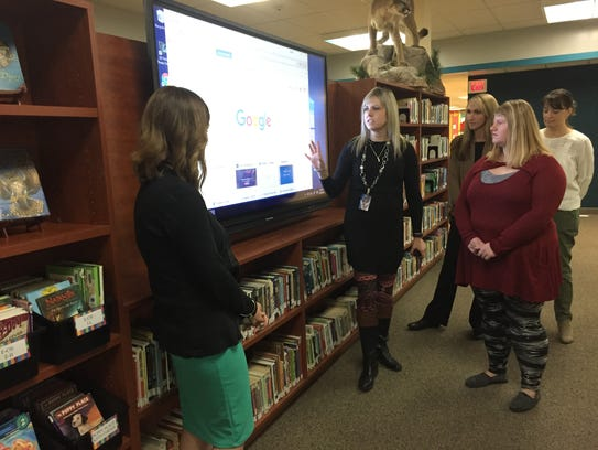 The library upgrade included a touch screen monitor