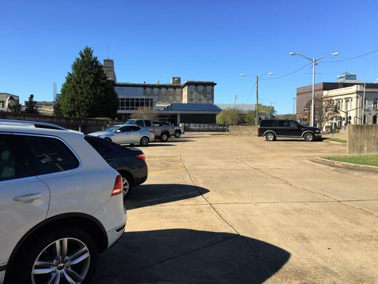 The lot at Fulton Mini-Park is one of a few publicly