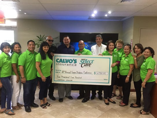 The Calvo's Insurance Select Care donated $2,500 to