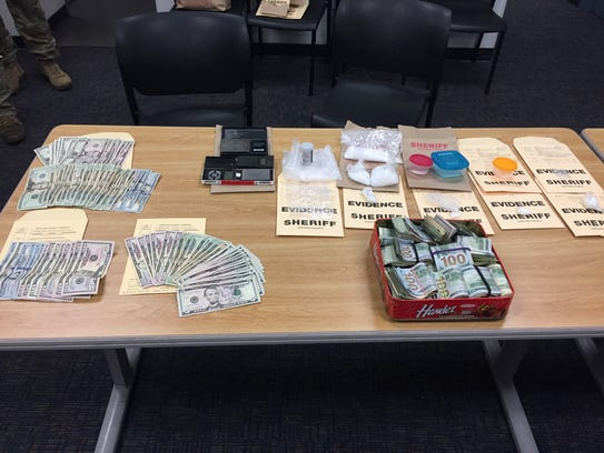 The contents seized by authorities during a search