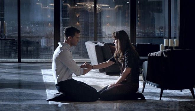 "Jamie Dornan and Dakota Johnson are back as Christian Grey and Ana Steele in ""Fifty Shades Darker."""