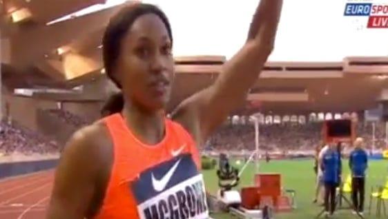 Indy sprinter Candyce McGrone