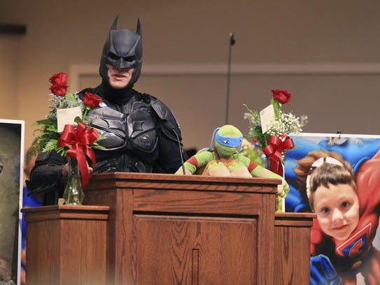 John Buckland, of Huntington W.V., dressed as Batman,