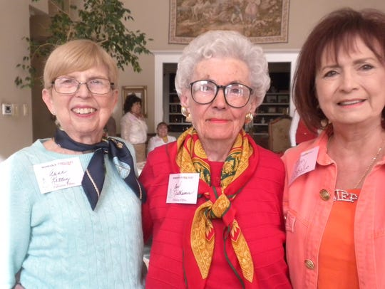 Anne Rettig, left, Ann Niethamer and Dr. Helen Castillo.