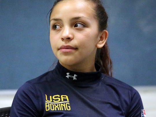 Kayla Gomez, 14, trained at the Olympic Training Center in Colorado Springs, CO.