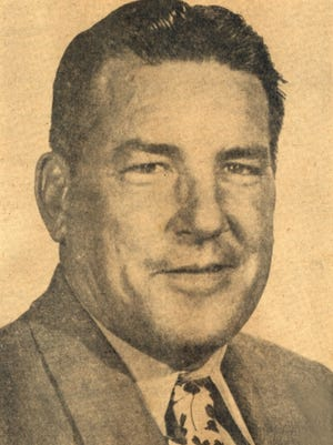 John Mann's newspaper photo from May 3, 1956.
