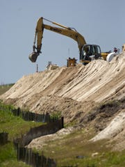 Photo from 2011 shows work on the Herbert Hoover Dike