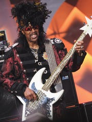 Bootsy Collins performs at The Murat on Feb. 13.