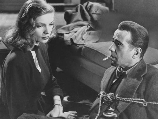 "Lauren Bacall and Humphrey Bogart star in 1946's ""The"