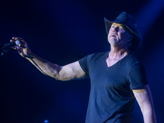 Country superstar Trace Adkins performs Saturday at the Alabama National Fair in Montgomery.