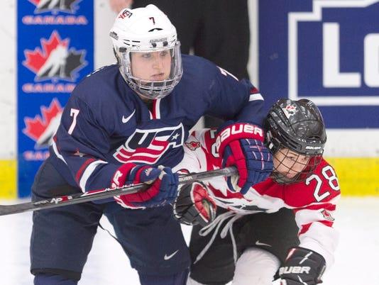 U.S., Canada women's hockey teams fight again