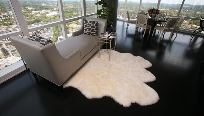 A sitting area near the dining area in a penthouse at The Residences at The Ritz-Carlton Westchester in White Plains, Sept. 24, 2014. The penthouse is this year's Westchester Magazine Dream House, decorated for fundraising.