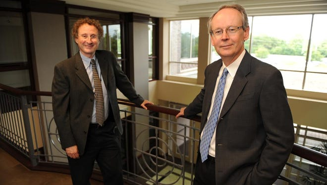 Robert Shalwitz, left, and Joseph Gardner are two co-founders of Akebia Therapeutics, Inc.