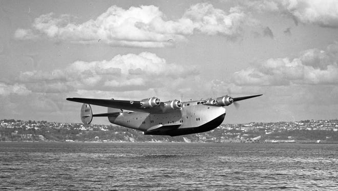 """Flown by Pan American in trans-Pacific flights is the Boeing 314 Flying Boat. During the 1940s, it was an elegant way to engage in long distance travel. The Boeing 314 was a late 1930s version of the flying boat, a successor to the smaller and less powerful Sikorsky models of the early 1930s.  """"The competition to design and fly transoceanic aircraft was intense, the British had a large flying boat called the Mars,"""" explains Von Hardesty."""