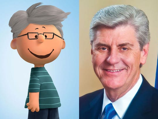 """Miss. Gov. Phil Bryant as a """"Peanuts"""" comic character"""