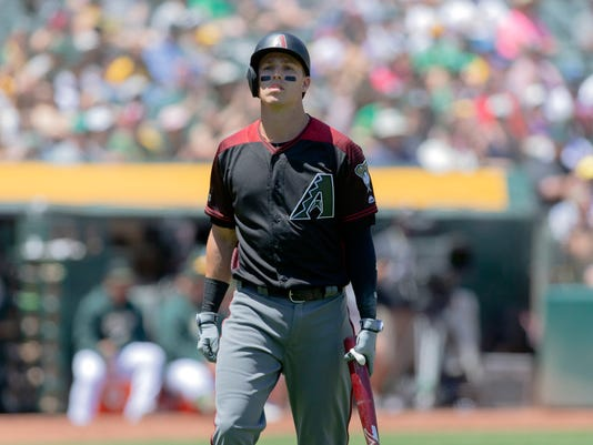 MLB: Arizona Diamondbacks at Oakland Athletics