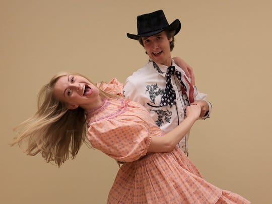"""Brooke Meadows plays Emily Dearheart and Kyle Flowers plays Johnny Freedom in """"The Great Circus Caper."""""""