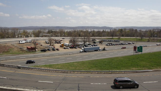 Some in South Nyack believe a redesigned Interchange 10 on the Thruway would be the best place to link people and parking to a bike and pedestrian path from the new Tappan Zee Bridge. The exit seen on April 16, 2013.