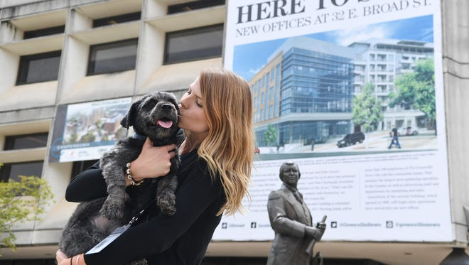 The Greenville News latest news hound, Apollo, has just been adopted by one of our own, Engagement Editor Jessica Fuller.