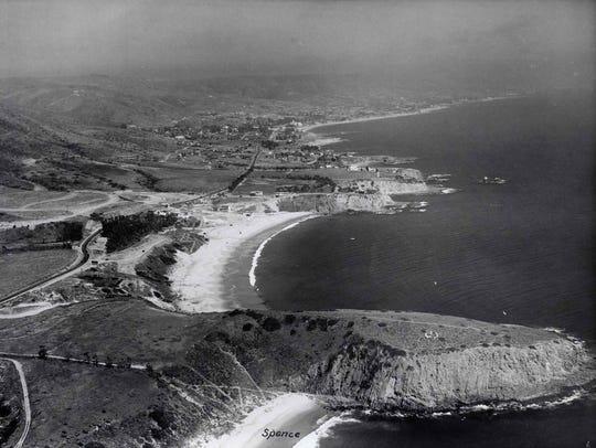 Emerald Bay at Laguna Beach in an aerial photograph