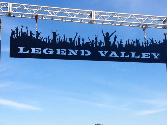 Submitted The sign at Legend Valley.