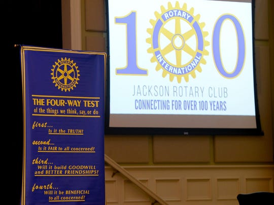 The Jackson Rotary Club will be celebrating its 100th year Aug. 3.