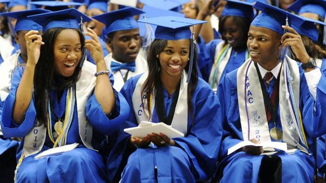 Murrah High School graduation on Wednesday at the Mississippi Coliseum in Jackson.