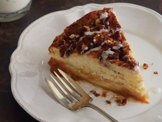 "Caramel apple-cinnamon magic cake from ""Magic Cakes"""