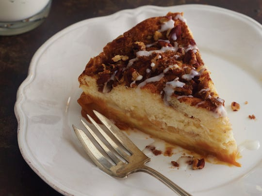 "Caramel apple-cinnamon magic cake from ""Magic Cakes"" cookbook"