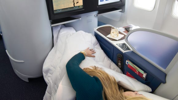 """This image provided by Delta shows its """"Delta One"""""""