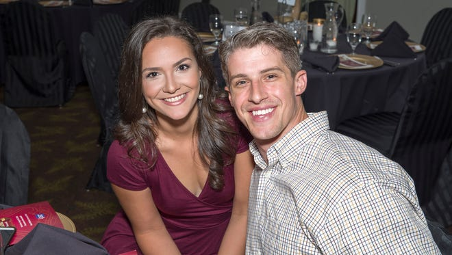 Marrilee Moore and Braclen Moore at a past Cattle Barons' Ball.