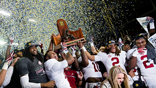 Alabama enters the College Football Playoff as the top seed and favorite to win the second of back-to-back-national championships.