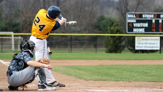 Max Hendricks and his Hartland teammates will travel to Brighton at 4 p.m. Wednesday for a baseball doubleheader.