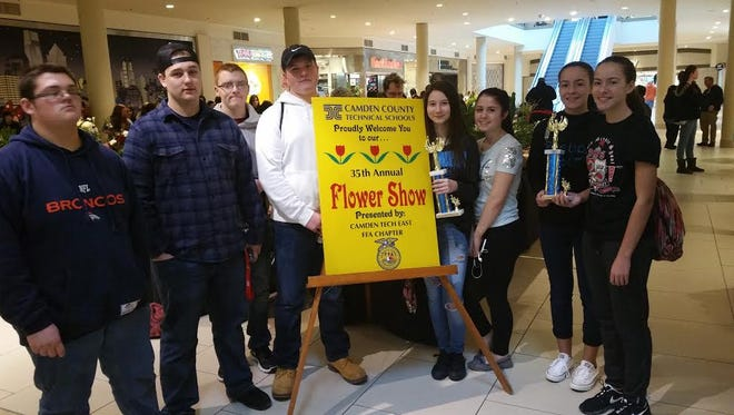 Members of Delsea Regional High School's horticulture class participated in a competition at Deptford Mall.
