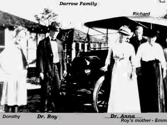 The Darrow family pose for a photo in 1910s in Okeechobee: Dorothy (from left), Drs. Roy and Anna, Richard and Roy's mother, Emma.