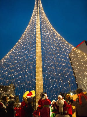 The annual lighting of the Liberty Pole in downtown Rochester, was held Saturday, December 3rd.