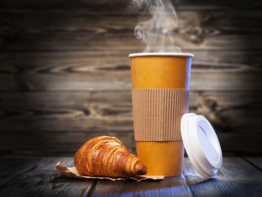Coffee in a paper cup