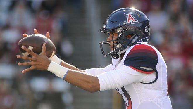 Quarterback Brandon Dawkins leads Arizona in passing yards (1,058) and rushing yards (597).