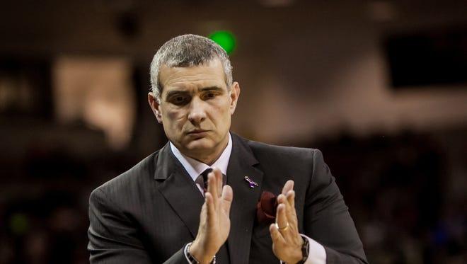 University of South Carolina men's basketball coach Frank Martin and the Gamecocks will open the regular season at home on Nov. 11 against Louisiana Tech.