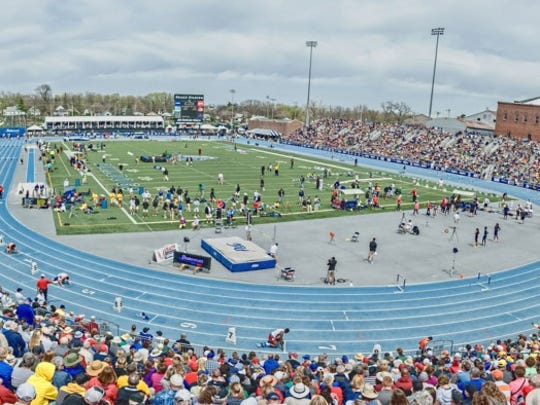 The Drake Relays regularly draws a sell-out crowd to Drake Stadium.