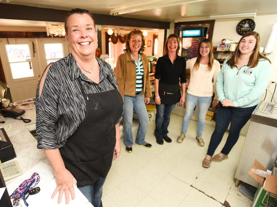 Tina Burkett and her crew at Tina's Diner and Dairy Stop in Avondale.