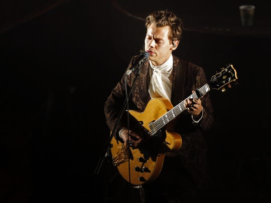 Harry Styles performs at The Ryman Auditorium Sept. 25, 2017 in Nashville.
