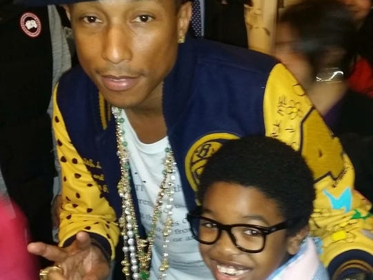 Pharrell Williams with Douglas Baldeo
